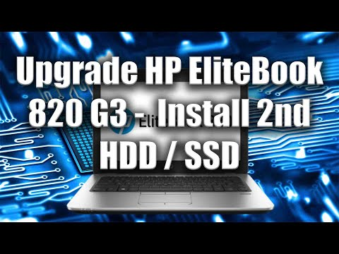 How to Upgrade HP EliteBook 820 G3 -  Install 2nd HDD / SSD - Tutorial