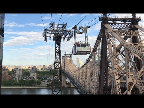 Roosevelt Island Tramway Ride To Manhattan, New York City (HD 60fps) 5/26/17