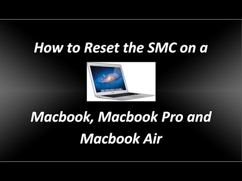 How to Reset the SMC System Management Controller on a Macbook Pro Macbook and Macbook Air
