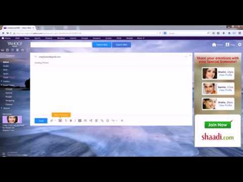 how to send email photos pictures Yahoo Mail | email pictures and images