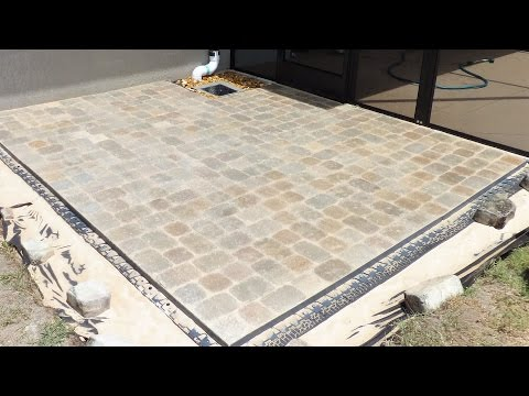 Block patio using Brock paver base