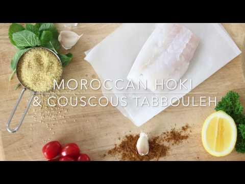 Moroccan Hoki and Couscous Tabbouleh