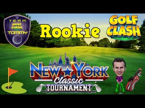 Golf Clash tips, Playthrough Hole 1-9 - Rookie Division! New York Classic Tournament!