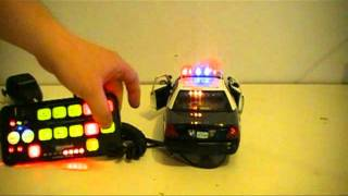 1/18 scale police car;with light and siren controler