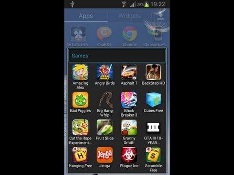 How To Create Custom Folders On The Samsung Galaxy S3 Mini