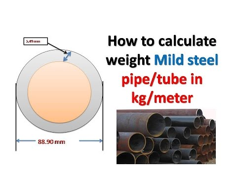 Mild steel pipe weight in kg/meter