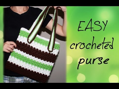 How To Crochet for Beginners   Easy Purse