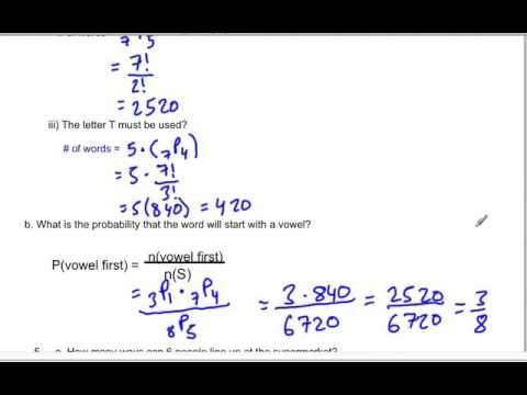 Permutations and Combinations 2
