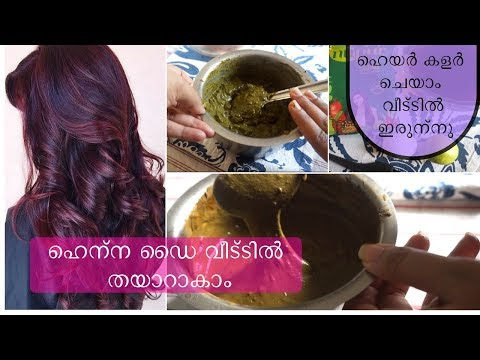 How to apply henna hair dye at home |ഹെന്ന തയാറാകുന്ന വിധം|stylish4you malayalam