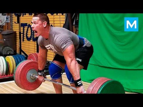 John Cena Set a New Deadlift Record (Workout) | Muscle Madness