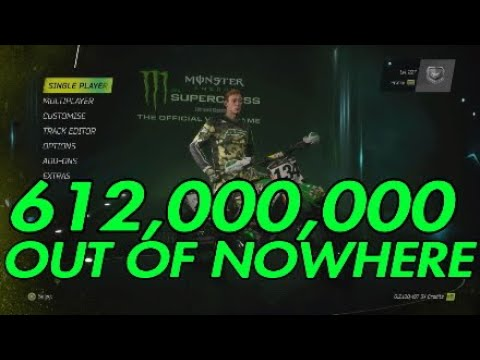 Monster energy supercross - 612,000,000 credits from nowhere!