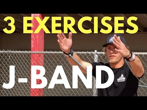 How To: 3 J-Band Exercises To Throw Harder   Baseball Throwing Drills