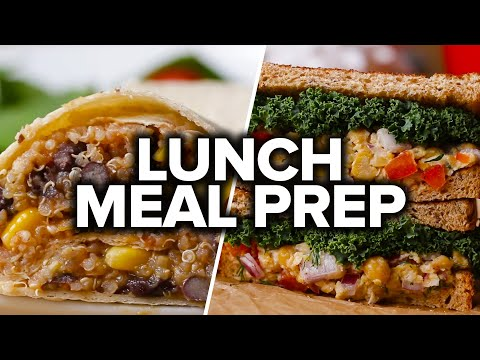 6 Vegan Lunch Meal Preps