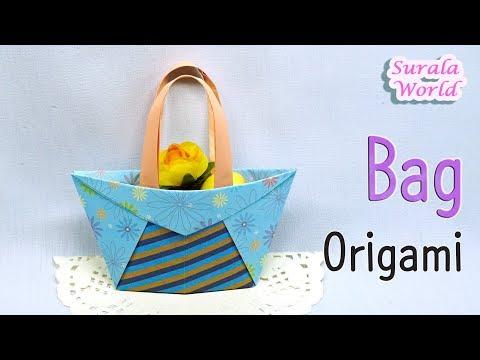 Origami - Bag, Shopper Bag (How to make a paper bag)
