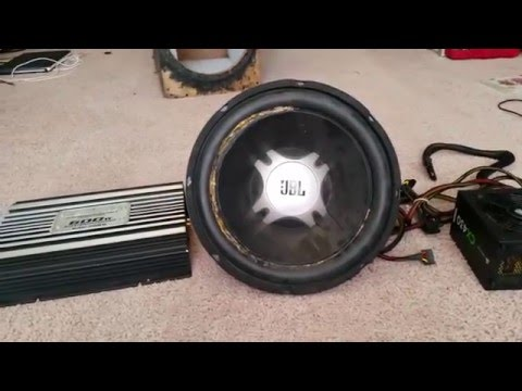 How to make a powered subwoofer