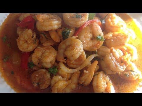 How to make Haitian shrimp (Kribich)