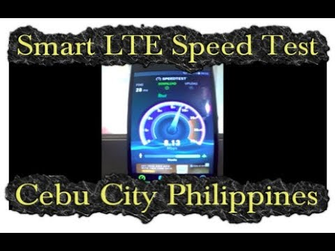 Internet in The Philippines: Smart LTE Mobile Data Speed Test, Capitol Site Cebu City ✅