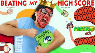 Paper.IO SPIDERMAN King!  Sweet Revenge & Penny's of Wisdom! (FGTeeV Mobile vs PC)