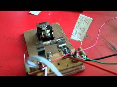 Homemade coherer telegraph receiver