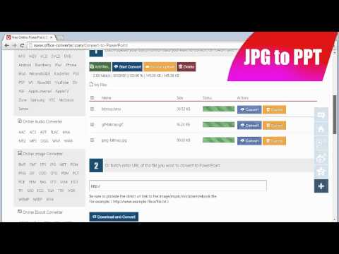 How to Convert JPG to PPT, JPG to PowerPoint