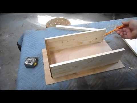 Making a Replacement Drawer and Chemically Aging Wood
