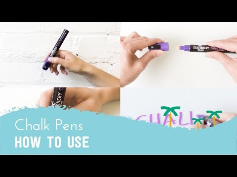 How to Use Liquid Chalk Markers - Tutorial | Stationery Island