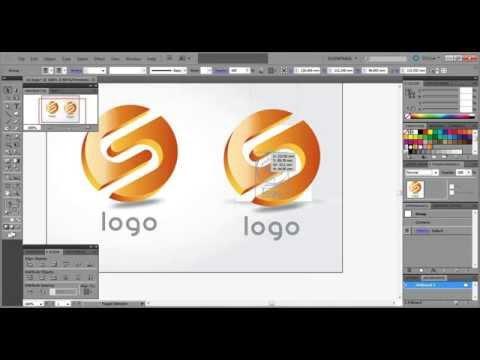 #5 3D shiny glossy logo design tutorial in Adobe Illustrator CS5 by amyi19