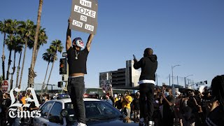 Protesters, law enforcement clash in L.A. during protest over George Floyd's death
