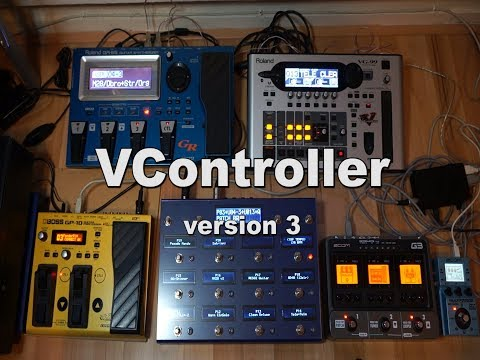 VController version 3, DIY MIDI foot controller for Boss GP10/Roland GR55/VG99/Zoom G3/Ms70cdr.