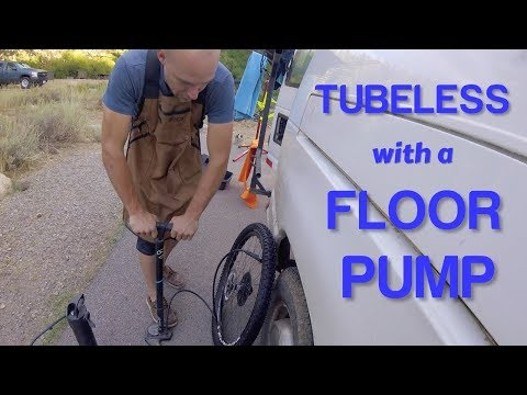 HOW TO INSTALL TUBELESS TIRE WITH A FLOOR PUMP without using an air compressor or a charger