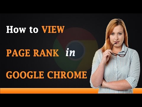 How to View PageRank in Google Chrome
