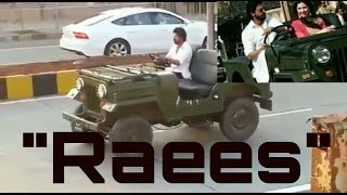 "Shahrukh Khan ( SRK )  Shooting a Driving Scene On Ths Sets of His Next Much Awaited Release ""Raees"""