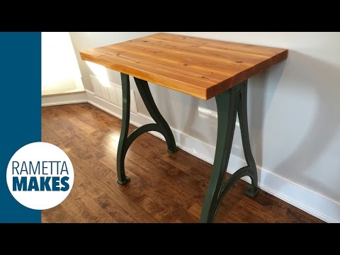 Build a Custom Sofa Table // DIY