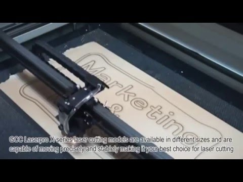 cutting wood letters with laser machine