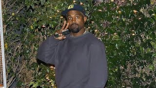 Kanye West Throws Peace Sign Amid Beef With Jay Z After Hitting The Studio EXCLUSIVE