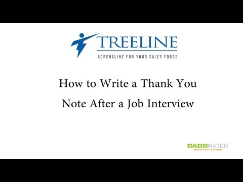 How to Write a Thank You Note After a Job Interview