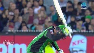 Zampa gets run-out, breaks bat