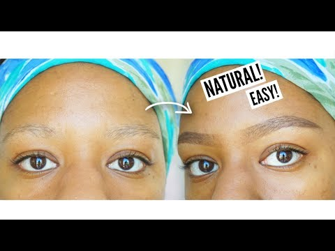 HOW TO FILL IN THIN EYEBROWS | My Natural Eyebrow Routine (No Concealer)