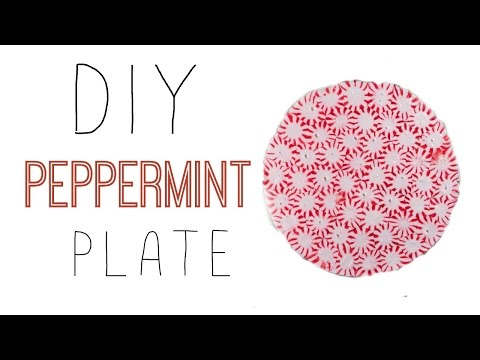 DIY CHRISTMAS PEPPERMINT PLATE