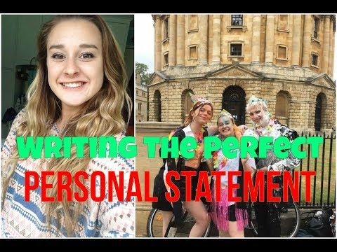 HOW TO GET INTO OXFORD AND CAMBRIDGE - WRITING A PERSONAL STATEMENT