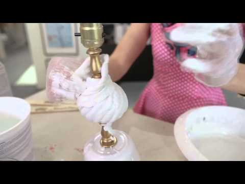House & Home: Plaster Lamp