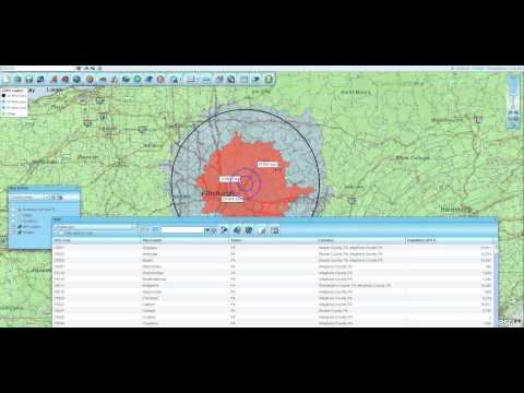 Building Concentric Circle Zip Code Maps in Map Business Online