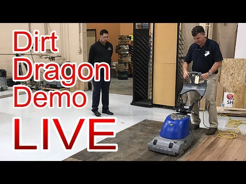 Dirt Dragon Demo LIVE | Basic Coatings Cleans Wood Floors at City Floor Supply, Tykote