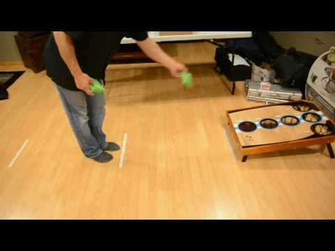 How to play Bean Bag Toss game