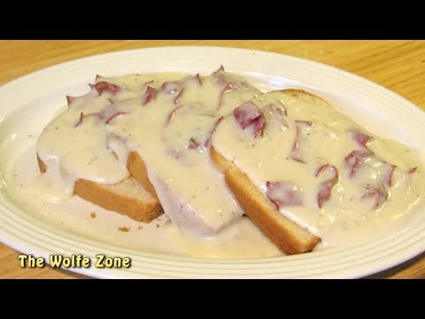 Creamed Chipped Beef Gravy on Toast! - How to make S.O.S.!!