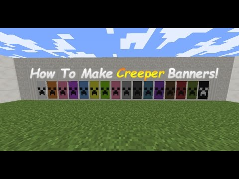 MineCraft: How To Make Creeper Banners! (Tutorial)