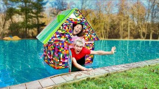 LEGO BOX FORT ON WATER!!