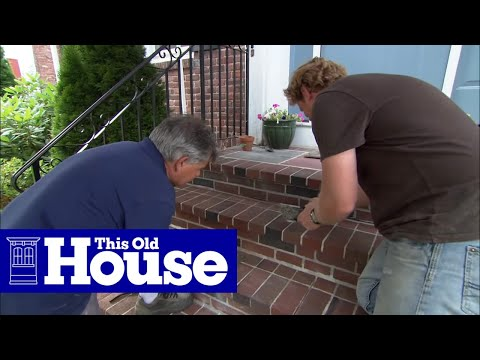 How to Repoint Brick Steps - This Old House