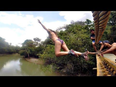 JUMPING OFF BRIDGES   Semuc Champey, Guatemala