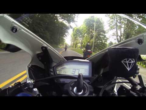 Motorcycle Ride through mountains in CT bike life